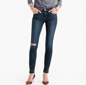 J. Crew Toothpick Skinny Raw Hem Distressed Jeans